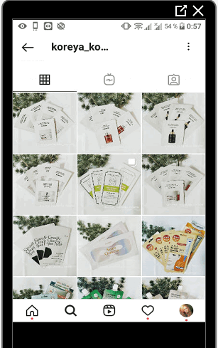 Пример интернет магазина в Инстаграме